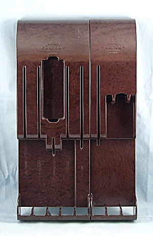 2-pc. Set Cutco - Shelf Dividers, Wall Hangers - Brown Marbleized