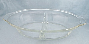 Fire King 468, Clear Crystal Divided Casserole