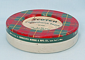 Tin - Scotch, Cellophane Tape - No. 600