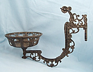 Victorian Lamp Bracket Arm - Eastlake Style - Cast Iron