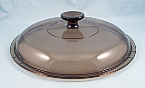 Pyrex Amber Lid - V 12 C, 9-1/2 Inches