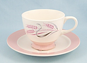 Homer Laughlin - Cup & Saucer - Pink Radiance