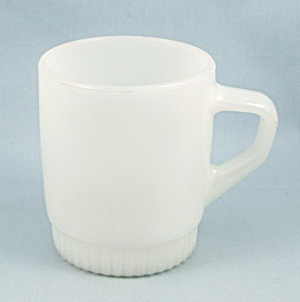 White Fire King Mug
