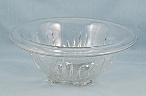 Star-clear, Federal Glass, Small Rolled Rim Mixing Bowl