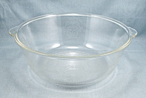 Glasbake 206 - Round Baking Dish- Poppy Pattern