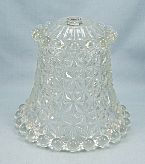 Glass Boudoir Lamp Shade, Pattern Glass, Ball Edges (Image1)