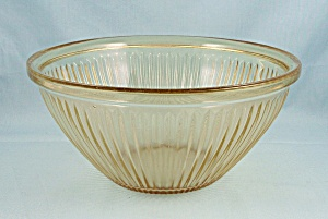 Two Amber, Ribbed - Mixing/ Nesting Bowls – Federal Glass (Image1)
