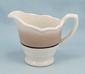 Creamer, Restaurant Ware, Airbrushed, Brown Stripe