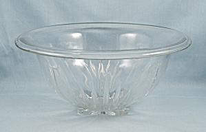 Star-clear, Federal Glass, Rolled Rim, Large Mixing Bowl