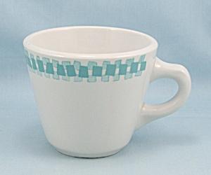 1969 Shenango Coffee Mug, Turquoise Trim (Image1)