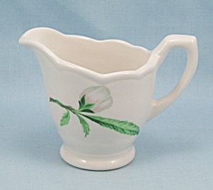 Creamer, Restaurant Ware, White Rose