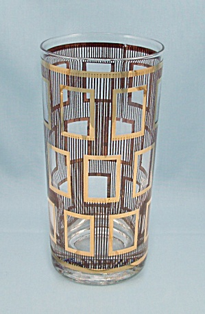 Georges Briard Tumbler - Gold Squares & Gold Lines