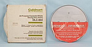 Cuisinart DLC-8 � Accessory / DLC-844 � Slicing Disc (Image1)
