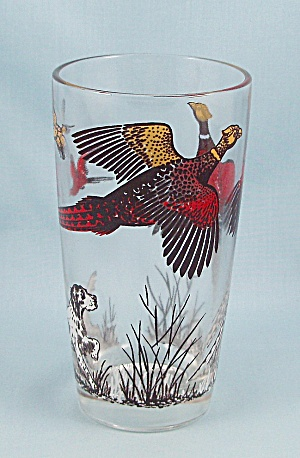 Pheasants Tumbler, Multi-color Red/brown