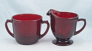 Royal Ruby – Cream & Sugar - Anchorglass (Image1)