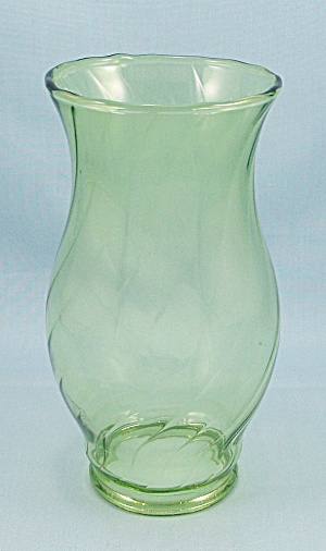 Vintage Swirl, Pale Green, Glass Lamp Chimney