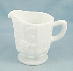 Paneled Grape, Milk Glass - Individual Creamer