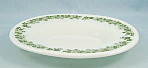 Pyrex – Spring Blossom, Green – Under Plate For Gravy  (Image1)