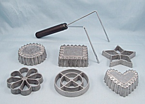 Waf-l-ette Patty Shell Mold Set - 6 Irons