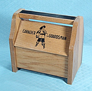 Cavalier Guardsman - Wood Shoe Shine Box