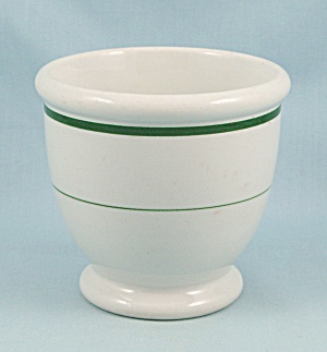 Mcnicol - Footed Egg Cup - Green Lines