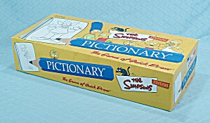 Pictionary, The Simpsons Edition Game, Pictionary, Inc., Nib, 2002