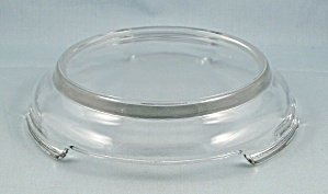 Punch Bowl Base /stand - Clear, Footed - Anchor Hocking