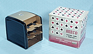 Arrco Battery Operated Playing Card Shuffler, Gold And Black