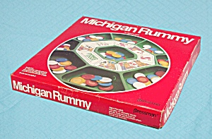 Michigan Rummy Game, Pressman, 1980