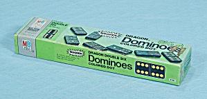 Dragon Double Six Dominoes Game, Colored Dot, Milton Bradley, 1970 (Image1)