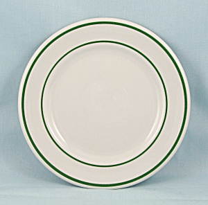 Shenango China - 1957, Small B & B Plate - Green Lines
