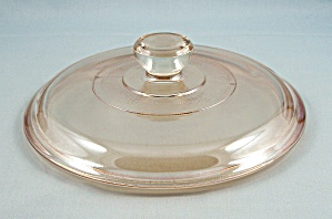 Anchor Hocking / Fire King Luster - Round Iridescent 6-1/2 Inch Lid