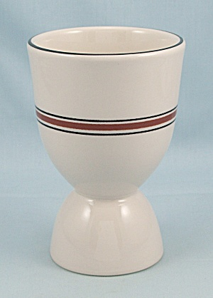 Restaurant Ware - Double Egg Cup - Four Stripes