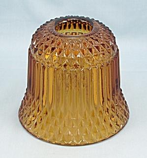 Princess House - Amber - Diamond Point, Fairy Lamp Chimney (Image1)