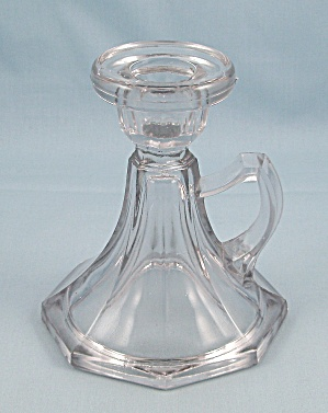 Handled Candlestick No. 221 - Crystal, L.e. Smith Glass
