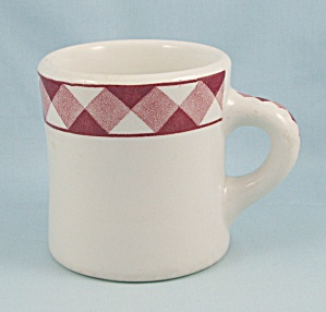 Heavy Mug - Jackson China - Checkerboard Border