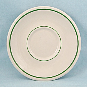 Green Lines -buffalo China - Saucer, Dec. 1965