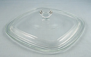 Corning Glass, Lid - Crystal / Square, 6-1/2 Inch P7c