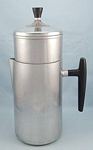 Wear Ever No. 968 - Vintage Aluminum 6-cup Convertible Coffee Pot