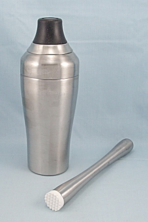 Oxo - Stainless Steel Cocktail Shaker & Muddler