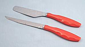 Imperial Steak Knife, Retro Orange Handle + Bonus