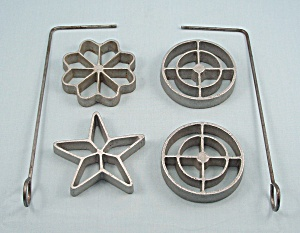 Patty Molds - Rosette Irons - Cast Iron Set