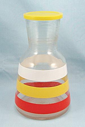 Hazel Atlas, Tri-Color Juice Carafe / Original Patn'd. Lid (Image1)
