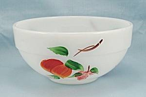 Fire King - Gay Fad Look / Vintage Pattern, Fruit - Banded Mixing Bowl