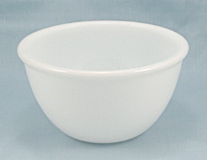 Rolled Rim, Mini Mixing Bowl - White Glass
