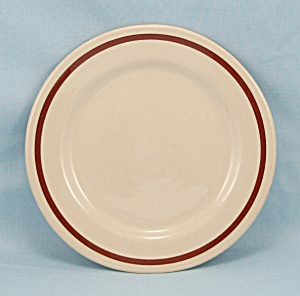 Carr China, Glo-tan Bread Plate, Brown Stripe