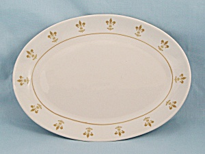 Homer Laughlin, Gold Fleur-de-lis, Oval Platter