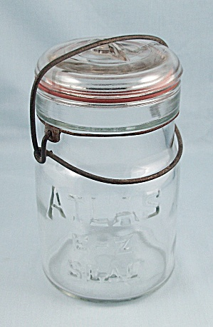Atlas – E-Z Seal – Pint Jar, Clear, Full Wire Bail, Glass Lid (Image1)