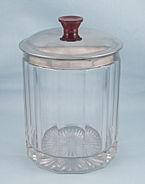 Polished Crystal - Glass Cigar Jar - Polygon Shaped