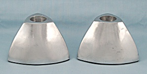 Metal, Weighted, Candle Pair, Triangle Shaped